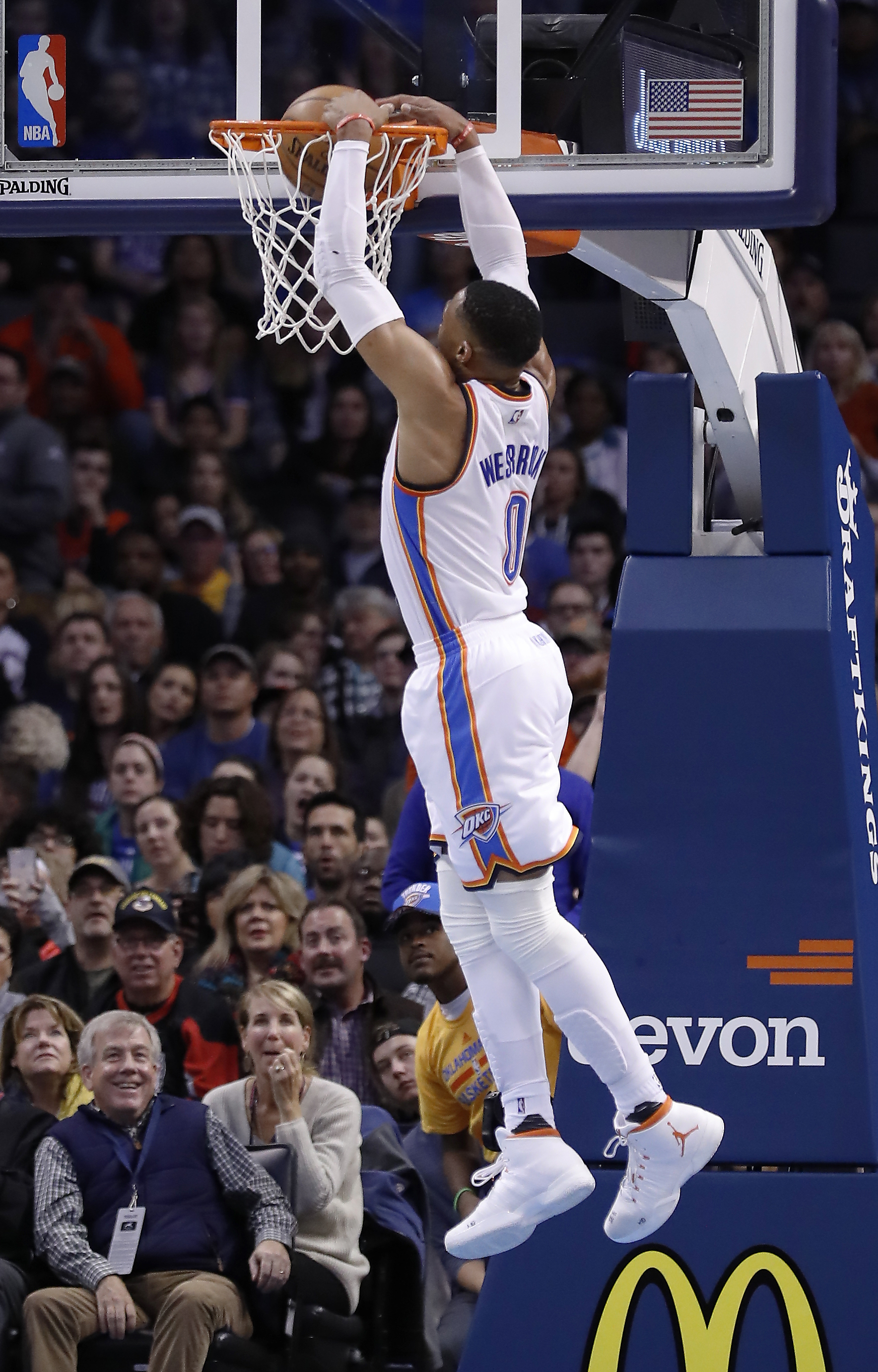 439c402a6 OKLAHOMA CITY (AP) — The Brooklyn Nets knew they couldn t afford to let  Russell Westbrook run wild in the paint. It didn t matter. Westbrook had 30  points