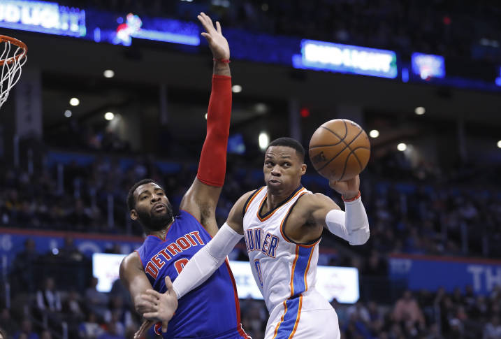 Thunder guard Russell Westbrook now averaging triple-double