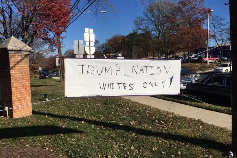 Silver Spring church vandalized with pro-Trump racist message