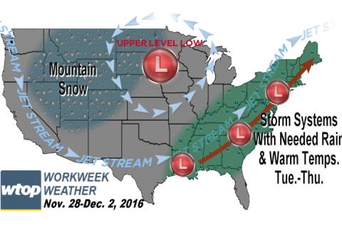 Workweek weather: Possible rain brings warmer temperatures