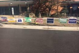 Voting signs are seen in Arlington, Virginia, Nov. 8, 2016. (Courtesy Adisa Hargett-Robinson)