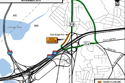 Emergency road work to close part of Bald Eagle Road