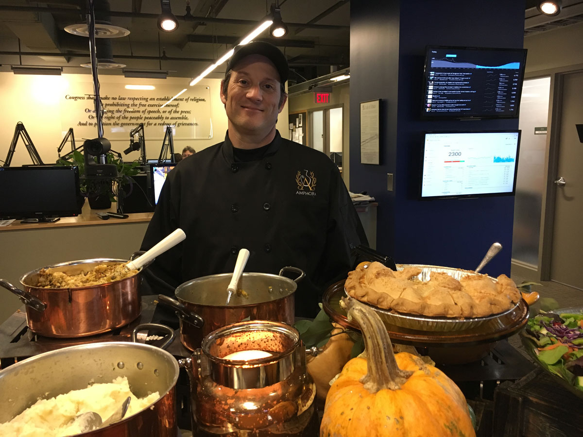 Brian Baer, the chef (WTOP/Vlahos)