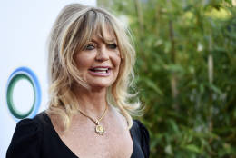 """Actress Goldie Hawn poses at """"The Champions of Our Planet's Future"""" annual gala on Thursday, March 24, 2016, in Beverly Hills, Calif. (Photo by Chris Pizzello/Invision/AP)"""
