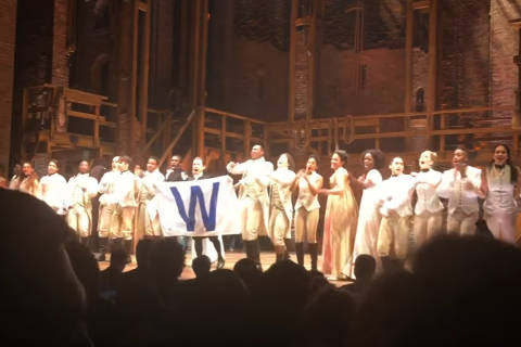 'Hamilton' cast salutes Chicago Cubs winning the World Series