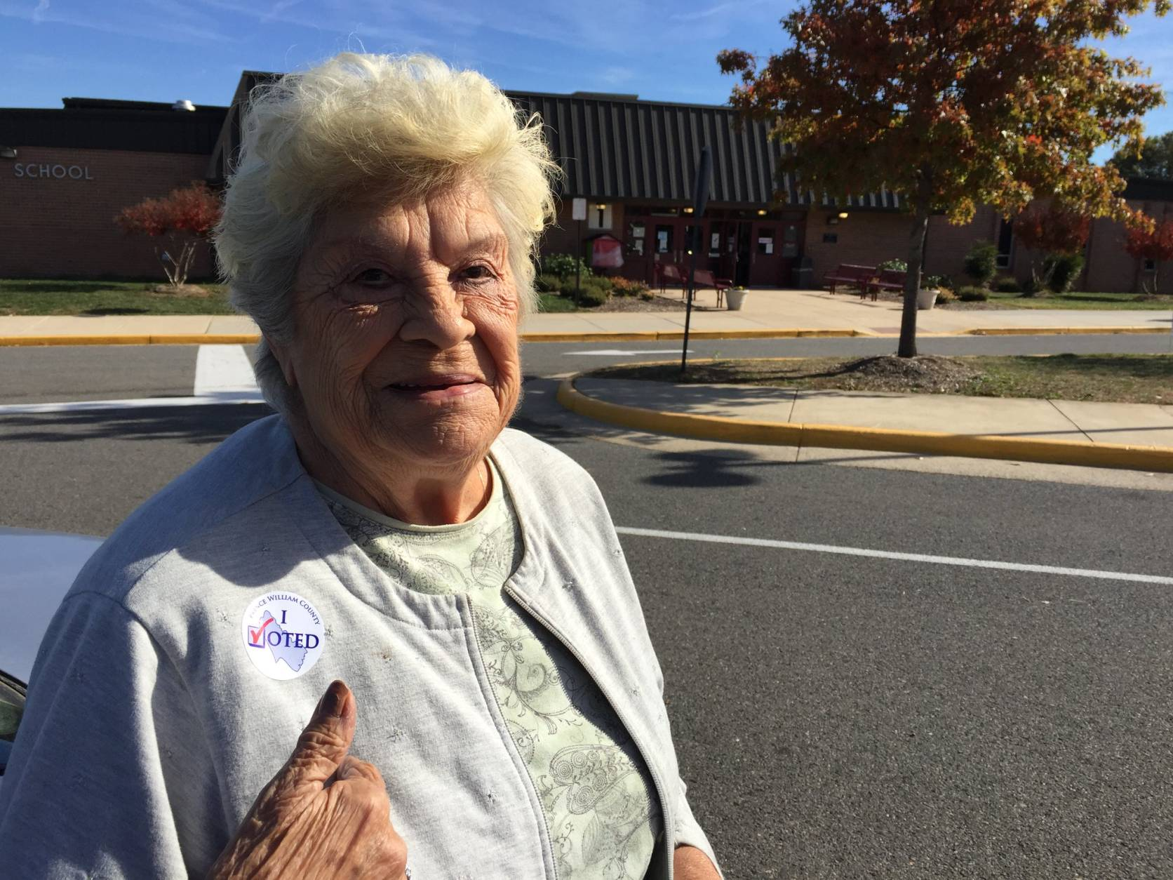 """Heaven help the person who gets in because they have a big job ahead,"" said Lillian Kearns of Manassas, Va. (WTOP/Kristi King)"