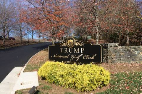Vandalism investigated at Trump's Va. golf course