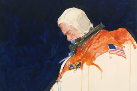 Portrait captures John Glenn preparing for history-making mission