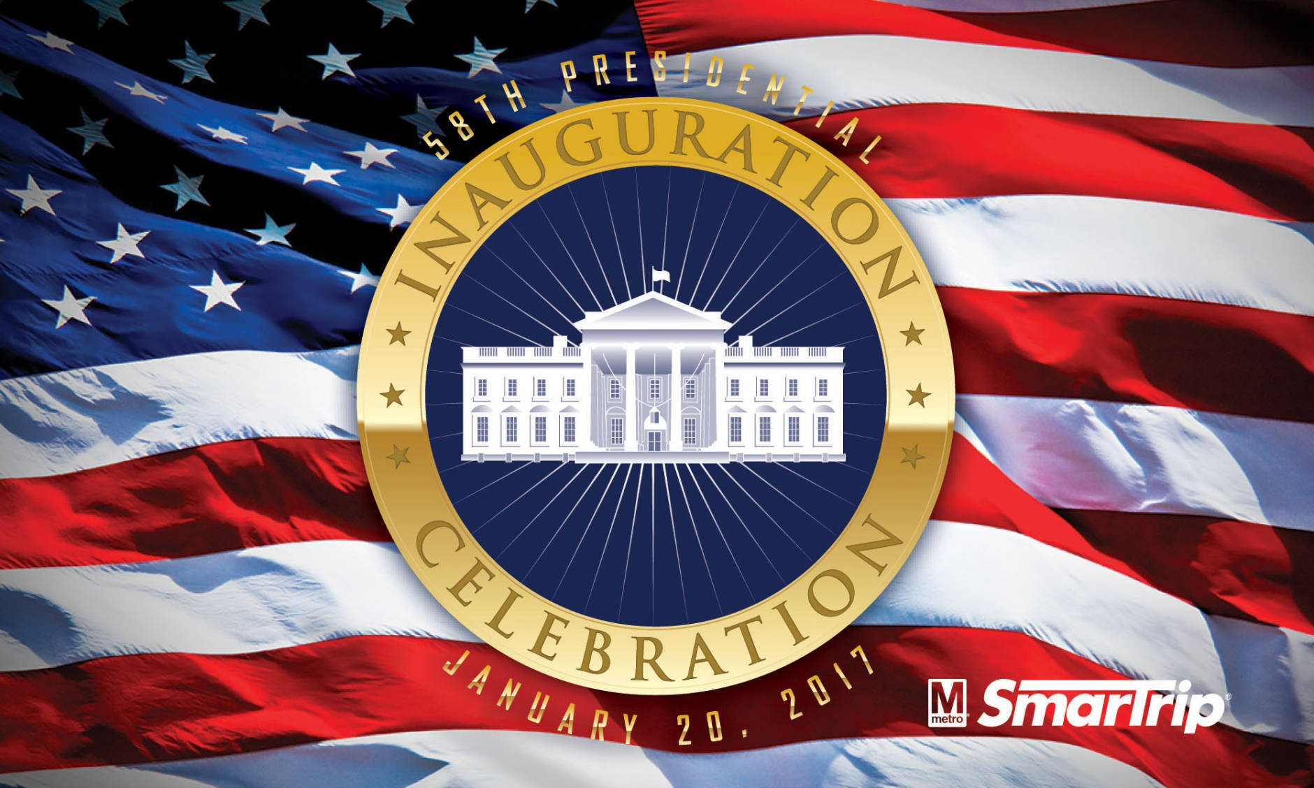 Metro is now selling special-edition versions of its SmarTrip payment cards to commemorate the upcoming presidential inauguration. (Courtesy WMATA)