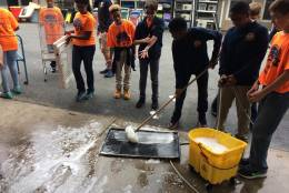 7th -12th grade went offsite to serve in 11 different projects around Northern Virginia, partnering with organizations like Keep Prince William Beautiful, Prince William County Animal Shelter, Hilda Barg Homeless Prevention Center, and Potomac Place Assisted Living.  (Courtesy Brian Citizen)