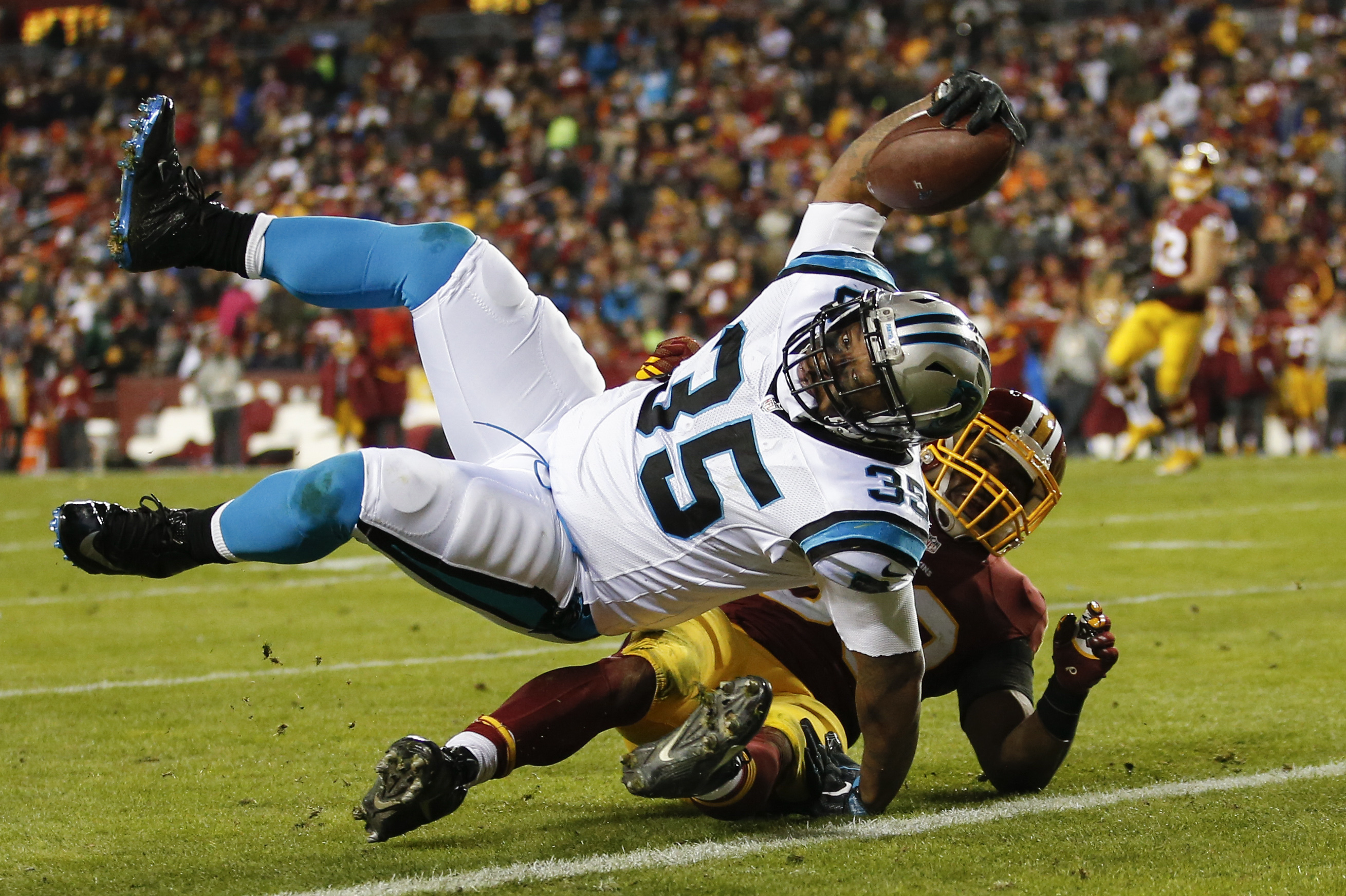 58b716198 Redskins lose control of playoff hopes with loss to Panthers