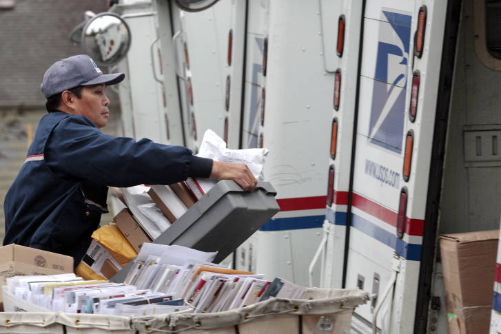 if you are expecting a christmas package or card it could come dec 22 the busiest day for deliveries ap photoelaine thompson - Usps Delivery Christmas Eve
