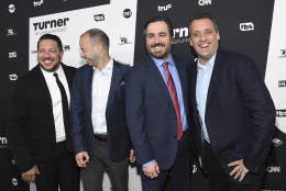 """""""Impractical Jokers"""" Sal Vulcano, left, James Murray, Brian Quinn and Joe Gatto will perform at MGM National Harbor Dec. 28, 2016.  (Photo by Evan Agostini/Invision/AP)"""