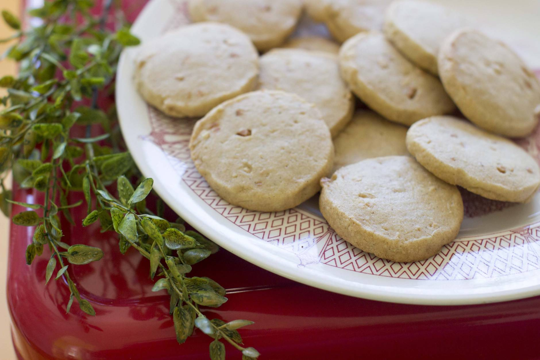 This Nov. 3, 2014, photo shows vanilla refrigerator cookies in Concord, N.H. These easy refrigerator cookies can be prepped ahead, then refrigerated for several days or frozen for months until the moment is right. (AP Photo/Matthew Mead)