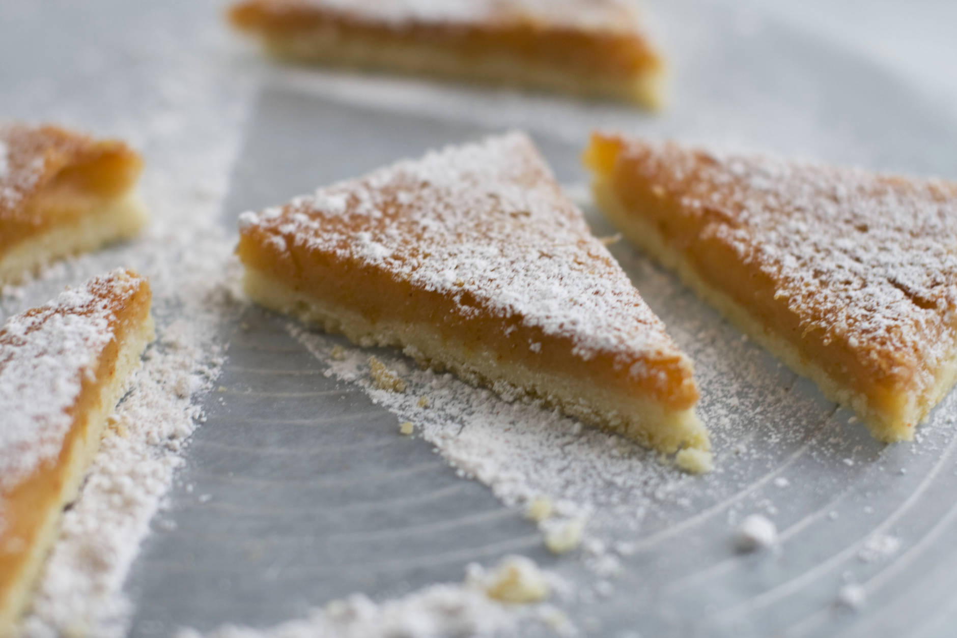 In this image taken on Monday, Nov. 5, 2012, paprika lemon bars are shown in Concord, N.H. (AP Photo/Matthew Mead)