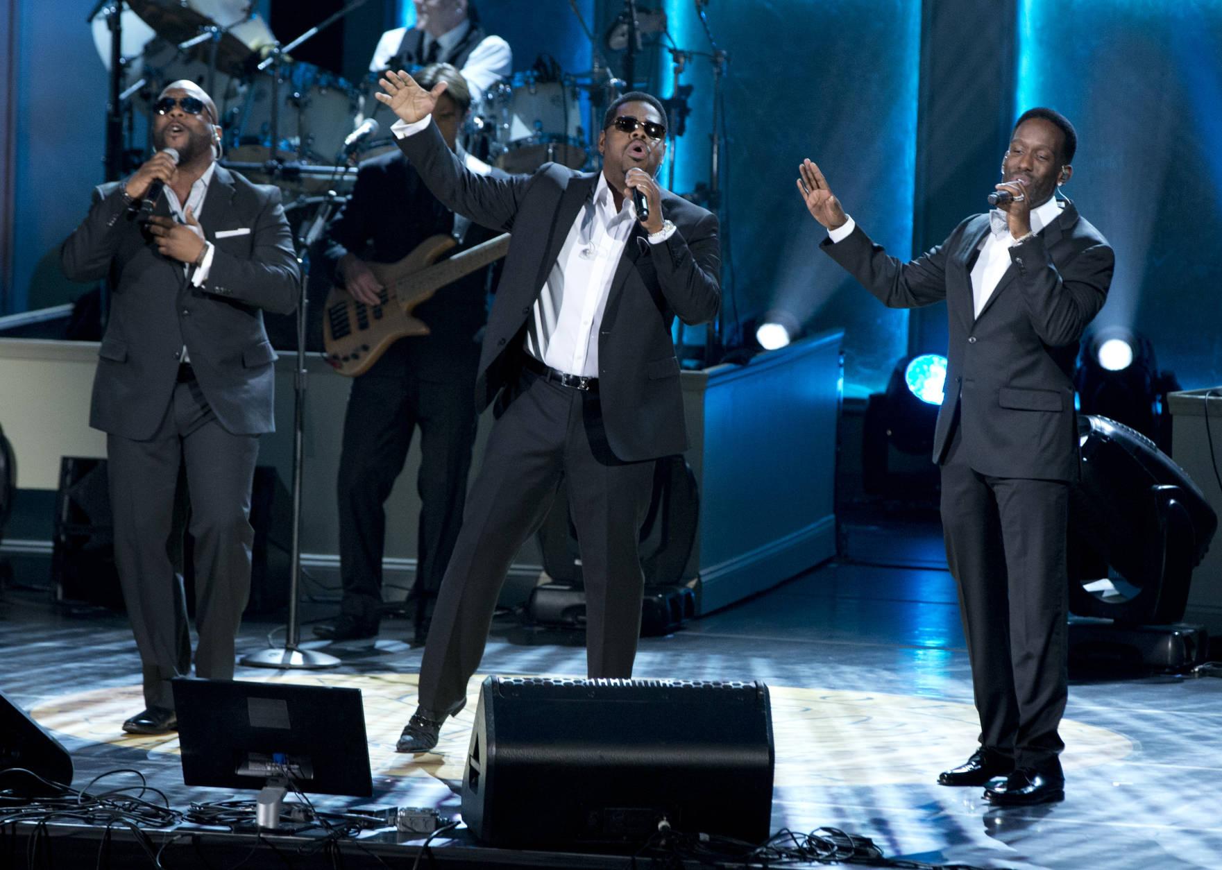 Boyz II Men will perform at MGM National Harbor on Dec. 15, 2016. (AP Photo/Carolyn Kaster)