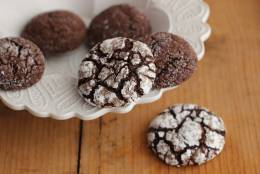 This Sept. 11, 2015 photo shows chocolate rye spice crinkles in Concord, N.H. These cookies are from a recipe by Alison Ladman. (AP Photo/Matthew Mead)