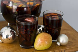 n this image taken on Monday, Nov. 26, 2012, Christmas Sangria is shown in Concord, N.H. (AP Photo/Matthew Mead)