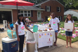 Fifth grader, Lydia Darville teamed up with her 5th grade friends, Seanna Gandam and Kyla Dawdy, to do a Cancer Bake Sale over the summer. (Courtesy Brian Citizen)