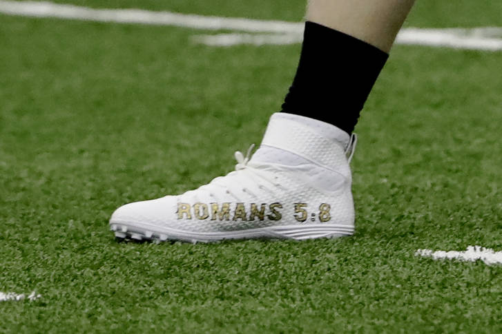 National Football League players can wear custom cleats this week without fines