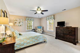 Five of the inn's six bedrooms are guest suites with in-room bathrooms. (Courtesy Long & Foster Real Estate)
