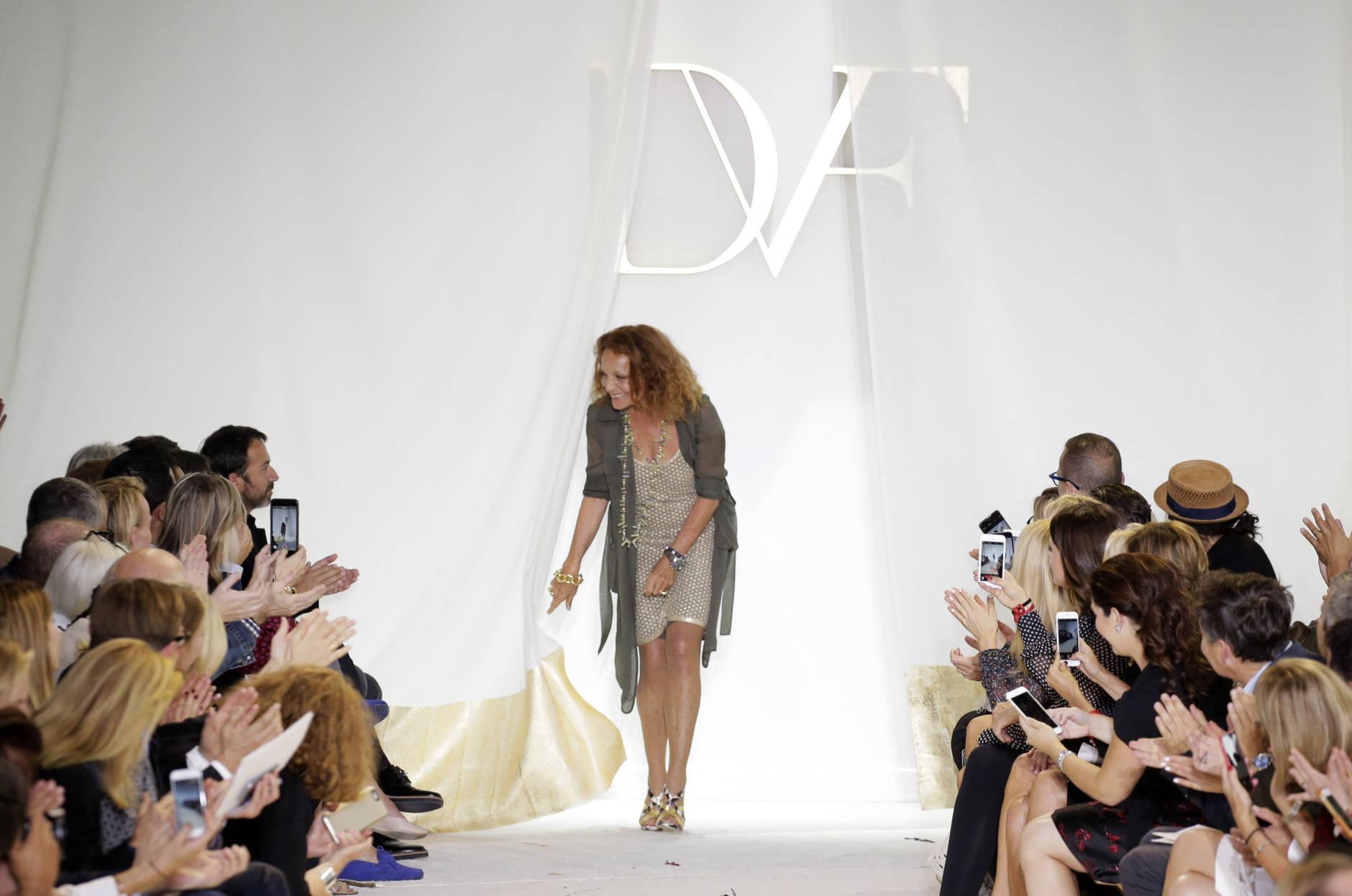 NEW YORK, NY - SEPTEMBER 13:  Designer  Diane Von Furstenberg walks the runway at the Diane Von Furstenberg Spring 2016 fashion show during New York Fashion Week at Spring Studios on September 13, 2015 in New York City.  (Photo by JP Yim/Getty Images)