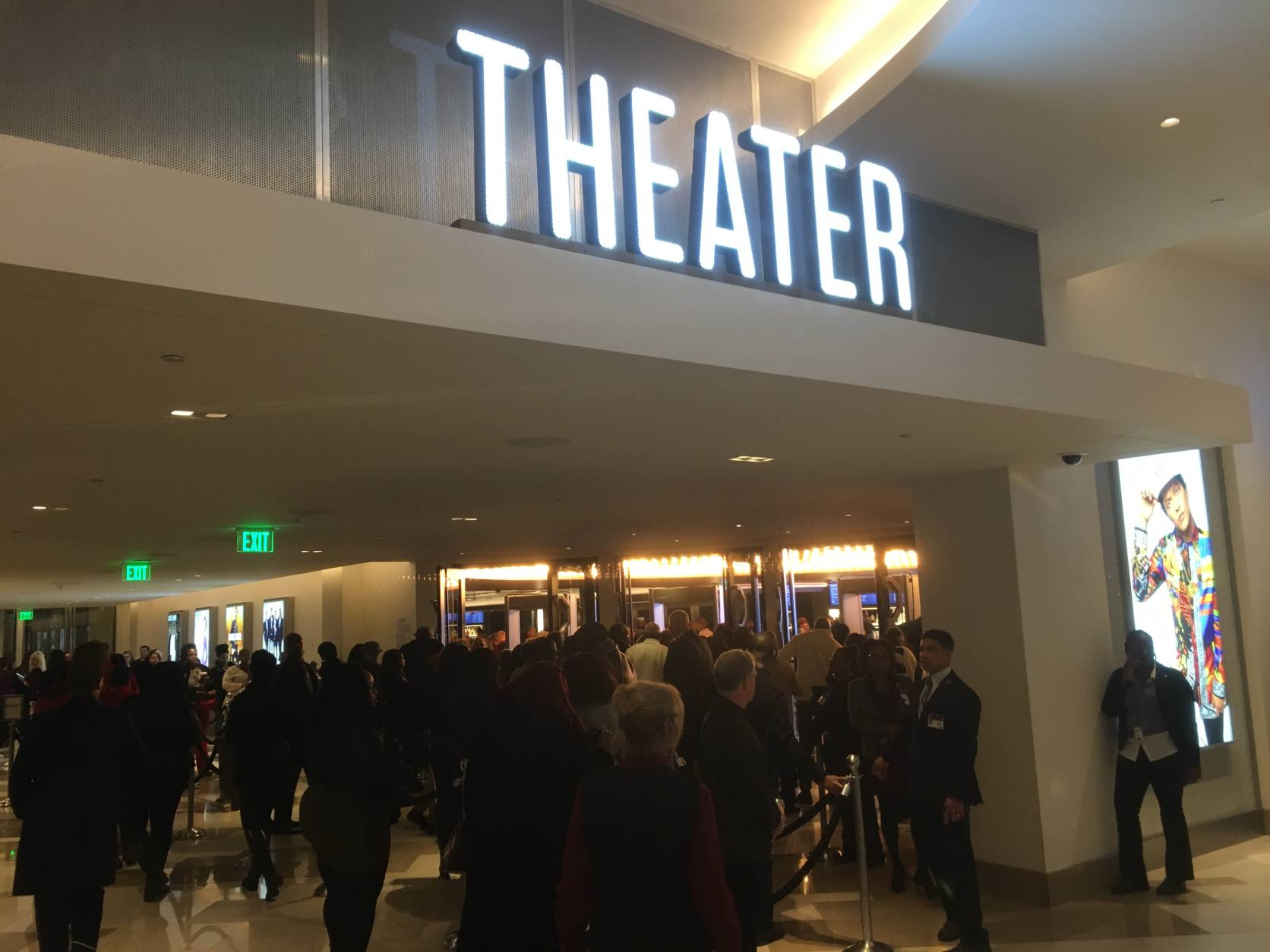 The entrance to the Theater at the MGM National Harbor. (WTOP/Mike Murillo)