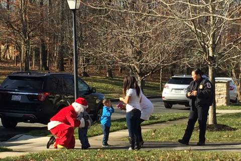 Photos: Md. paramedic reunites with rescued toddlers on Christmas