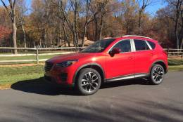 The 2016.5 Mazda CX-5 seems to offer a ride with less noise than in previous versions. (WTOP/Mike Parris)