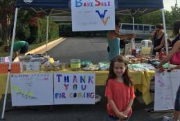 Golden Pond School student, Kendall Leitch, age 6, has a home in the mountains of West Virginia. This area was devastated by flooding last June and Kendall witnessed firsthand some of the tremendous loss people endured. Kendall conceived a bake sale as a way of helping those most in need. (Courtesy Margaret R. Grace)
