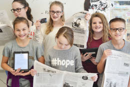 . The students wanted to bring positive news to the school, create a method to prevent bullying, and create a way to get information out to the community. (Courtesy Cathleen Beachboard)