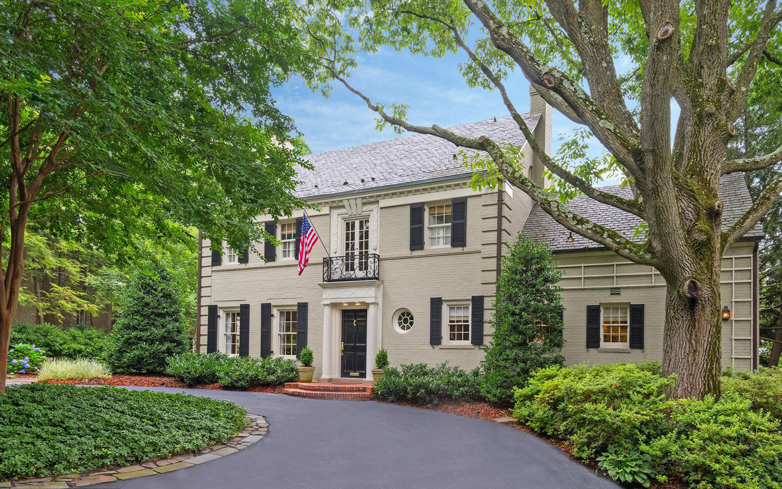 4619 CHARLESTON TERRACE NORTHWEST     Th detached colonial at 4619 Charleston Terrace NW features four bedrooms and four baths. Constructed in 1941, the home sold for $2.55 million in November.  (Courtesy MRIS)