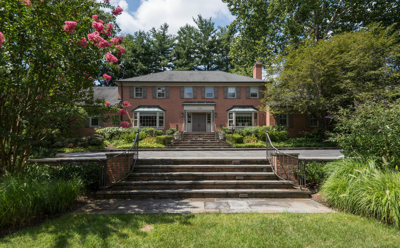 7100 GLENBROOK ROAD       The six-bedroom colonial at 7100 Glenbrook Road in Bethesda sold for $2.8 million in November. Built in 1970, the home features five full baths and three half baths.    (Courtesy MRIS)