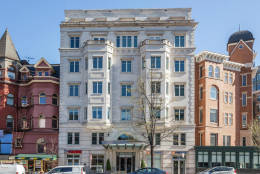 No. 3A at 2501 Pennsylvania Ave. NW sold for $2.3 million in November. The contemporary home features two bedrooms and two bathrooms.  (Courtesy MRIS)