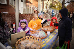 Aidan Montessori School's Girls on the Run team raised over $300 to buy sleeping bags for DC's homeless population this past month. (Courtesy Cassie Sherman-Marks)