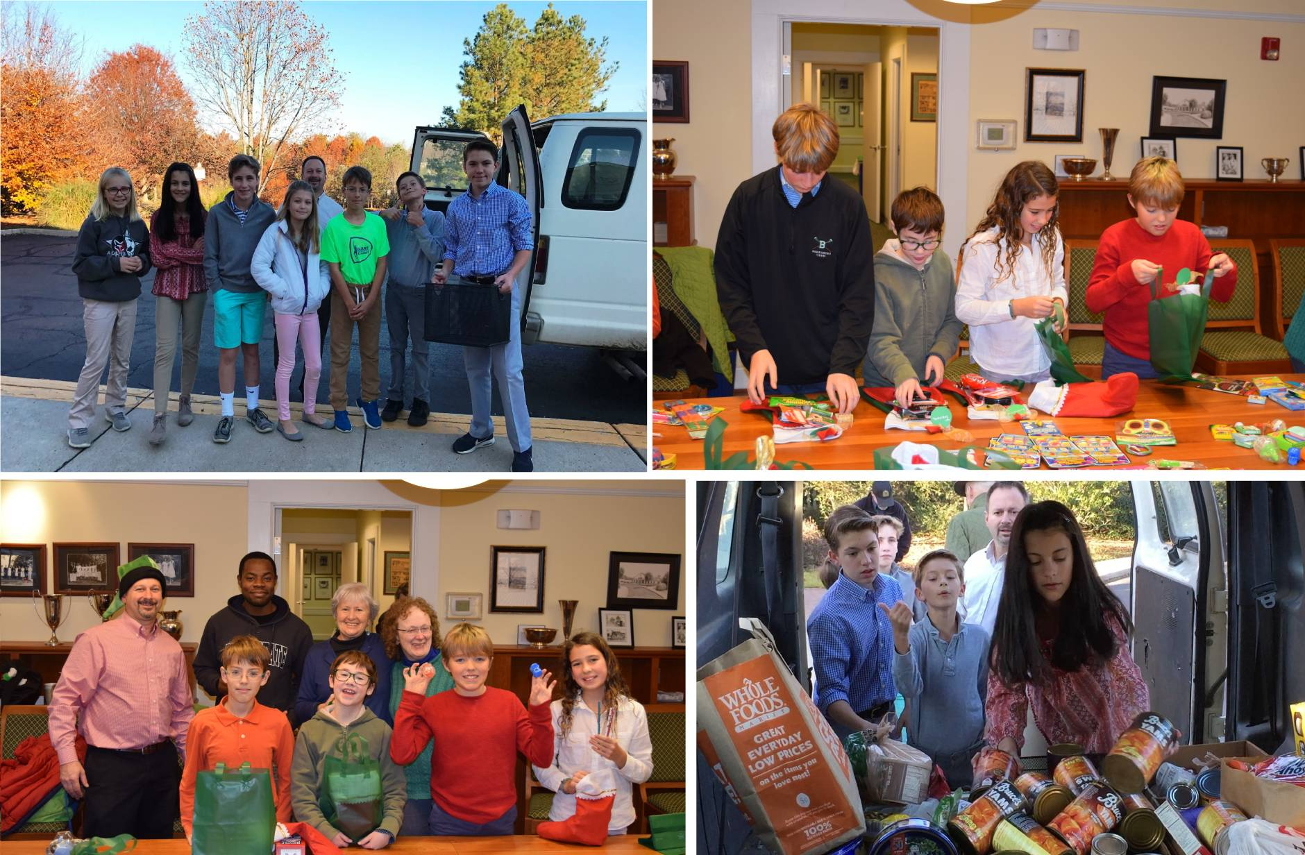 The Hill School of Middleburg's Student Council led two school-wide efforts during this holiday season. The Thanksgiving Food drive resulted in over 500 pounds of food that was donated to the Seven Loaves Food Pantry. (Courtesy Kelly Johnson)