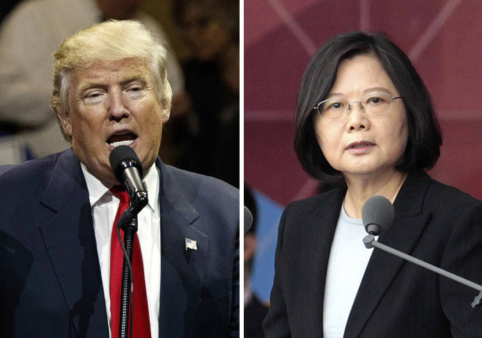 Trump shrugs off the fuss over his call with Taiwan