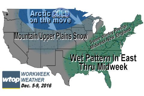 Workweek weather: More rainfall followed by arctic blast