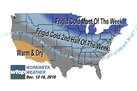 Workweek weather: Another shot of very cold temperatures on the way