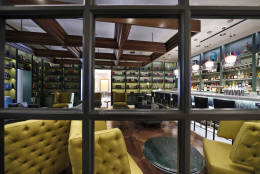 The bar area of Steak House by brothers Bryan and Michael Voltaggio, is seen during a preview tour of the MGM National Harbor, Friday, Dec. 2, 2016 in Oxon Hill, Md. The $1.4 billion National Harbor casino and resort, just outside the nation's capital, is scheduled to open this week. (AP Photo/Alex Brandon)