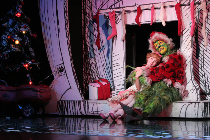 santa for a day scene from dr seuss how the grinch stole christmas the musical from the 2014 tour courtesy dr seuss how the grinch