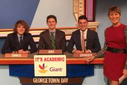 "On ""It's Academic,"" Georgetown Day competes against Hayfield High School and The Bullis School. The show airs March 4, 2017. (Courtesy Facebook/It's Academic)"