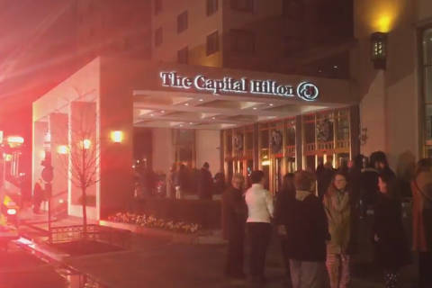 DC Hilton evacuated after laundry room fire
