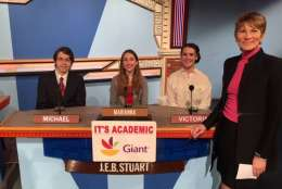 "On ""It's Academic,"" J.E.B. Stuart High School competes against Wootton and Edison high schools. The show airs Feb. 4, 2017. (Courtesy Facebook/It's Academic)"