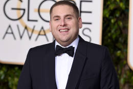 Jonah Hill arrives at the 73rd annual Golden Globe Awards on Sunday, Jan. 10, 2016, at the Beverly Hilton Hotel in Beverly Hills, Calif. (Photo by Jordan Strauss/Invision/AP)