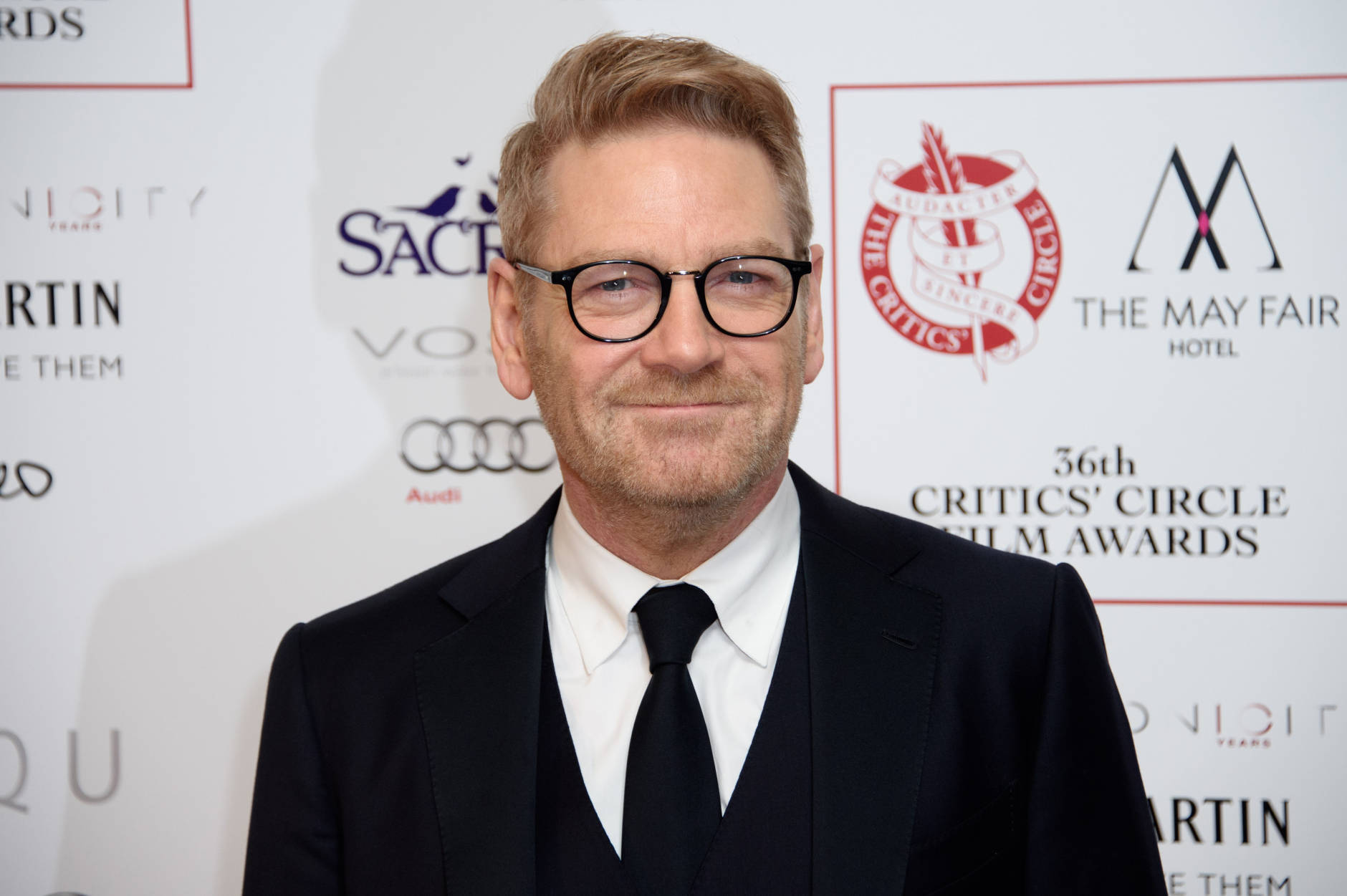 Actor Kenneth Branagh poses for photographers at the Critics Circle Awards at a central London venue, London, Sunday, Jan. 17, 2016. (Photo by Jonathan Short/Invision/AP)