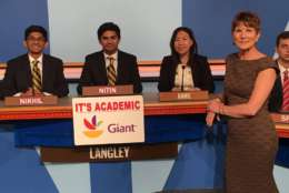"On ""It's Academic,"" Langley High School competed against Rockville and La Plata high schools. The show aired May 27, 2017. (Courtesy Facebook/It's Academic)"