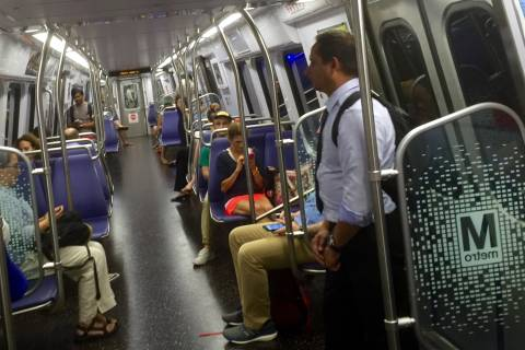Metro operators using sun visors to block cameras on trains, report says