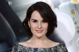 "Michelle Dockery arrives at the Los Angeles premiere of ""Non-Stop"" at the Westwood Regency Village Theater on Monday, Feb. 24, 2014. (Photo by Jordan Strauss/Invision/AP)"