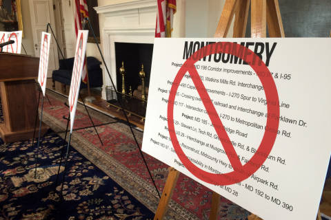 Local Md. officials spar with Hogan over transportation law
